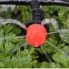 rød drypp dyse med jordfeste